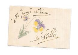 14 - Je Pense à Vous De SUBLES, Carte Dessinée, - France