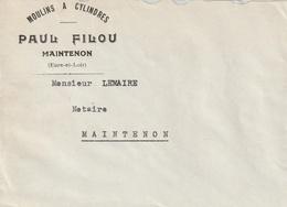 Enveloppe Maintenon ( Moulin  A Cylindres ) Paul Filou - Non Classés