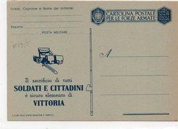 CARTOLINA POSTALE PER LE FORZE ARMATE  - NON VIAGGIATA - IL SACRIFIO DI TUTTI........... - Guerra 1914-18