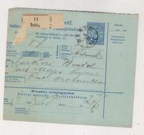 CROATIA HUNGARY 1895 NASICE Parcel Card - Croacia