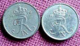 DENEMARKEN : 1 ORE 1970-1971  KM 839.2 - Danimarca