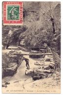 France Semeuse Porte Timbre Dieu Protège La France Sur Carte Postale - 1877-1920: Periodo Semi Moderno
