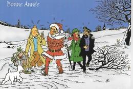 CARTE POSTALE TINTIN BONNE ANNEE (43) - Postcards
