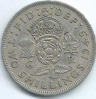 United Kingdom / Great Britain - 1949 - George VI - 2 Shillings - KM878 - 1902-1971 : Monete Post-Vittoriane