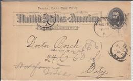 1894 NY US Postal Card One Cent Saturday Globe Postal Stationary Ganzsache - Ganzsachen