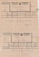 Kroatien / 2 Aeltere Telegramme (BF69) - Croatia