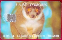 25 Units Le Maki Des Comores - Comore