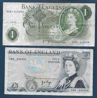 Grande Bretagne - 2 Billets - 1952-… : Elizabeth II