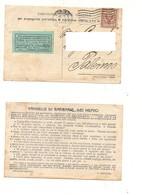 3666) FLOREALE 2c ISOLATO 1918 TORINO LIBRERIA PATRIOTTICA RESISTENZA - Storia Postale