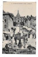 38  -  CPA  De  St  JEAN De BOURNAY -  Le  Marché  , ÂNES  Autour  De  La  Fontaine  (  Très  Très  Animée ) - Saint-Jean-de-Bournay