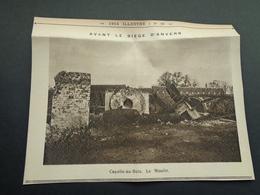 """Origineel Knipsel ( 4055 ) Uit Tijdschrift """" 1914 Illustré """" Guerre Moulin : Capelle - Au - Bois  Kapelle Op Den Bos - Oude Documenten"""