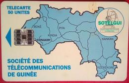Guinea 50 Units Map - Guinee