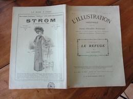 1909   L'ILLUSTRATION THÉÂTRALE  - Le Refuge  - Par Dario Niccodemi -   Pub La Mode à Paris  STRÖM - Theatre