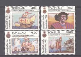 Tokelau  :  Yv  188-91  **   Bateau - Boat  Christophe Colomb - Tokelau