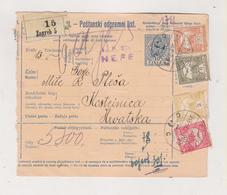 CROATIA HUNGARY 1916 ZAGREB Parcel Card - Croacia