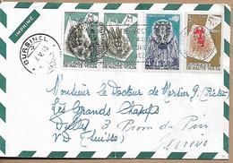 BURKINA FASO 1963 HAUTE VOLTA COVER-LETTER 4 Stamps COVER USED - Burkina Faso (1984-...)