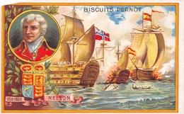 Chromo - Biscuits PERNOT, Dijon - Horace Nelson, Amiral Anglais Né à Burnham-Thorp, Mort à La Bataille De Trafalgar - Pernot