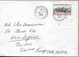 BURKINA FASO 1976 HAUTE VOLTA COVER-1 Stamp COVER USED - Burkina Faso (1984-...)