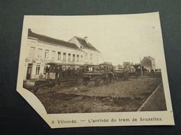 """Origineel Knipsel ( 4071 ) Uit Tijdschrift """" 1914 Illustré """" Guerre Oorlog  :   Vilvorde   Vilvoorde - Arrivée Du Tram - Vieux Papiers"""