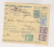 CROATIA HUNGARY 1917 NOVA RACA Parcel Card - Croatie