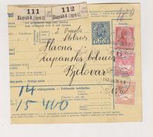 CROATIA HUNGARY 1913 ZAGREB Parcel Card - Croacia
