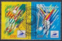 France 98 - Sport - Nantes - FRANCE - Coupe Du Monde De Football - N° 3075-3076 - 1997 - Frankreich