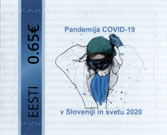 ESTONIA EESTI 2020 HEALTH CORONAVIRUS MEDICAL EPIDEMIC COVID-19 DISEASE ** PERSONAL STAMP ** MNH - Disease