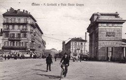 MILANO - PORTA GARIBALDI E VIALE MONTE GRAPPA - NON VIAGGIATA - Milano (Milan)