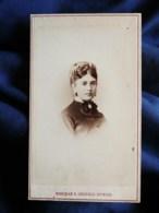 Photo CDV Léopold Dubois à Paris - Second Empire Portrait Nuage Jeune Femme, Jolie Coiffure, Circa 1865 L498M - Photos