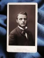 Photo CDV Géruzet à Bruxelles - Beau Portrait Homme Aux Favoris, Circa 1880 L498M - Photos