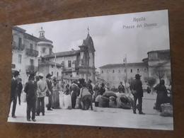 Cartolina Postale Originale, Postcard 1910, L'Aquila, Piazza Del Duomo, Animata - L'Aquila