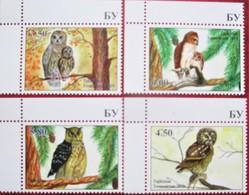 Tajikistan  2019  Owls  Eulen  4 V   Perfor.   MNH - Tajikistan
