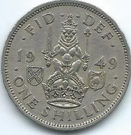 United Kingdom / Great Britain - 1949 - 1 Shilling - George V - KM877 - Scottish Crest - 1902-1971 : Monete Post-Vittoriane