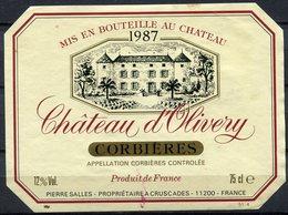 1849 - France - Corbières - 1987 - Château D'Olivery - Pierre Salles - Vin De Pays D'Oc