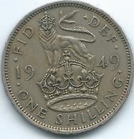United Kingdom / Great Britain - 1949 - 1 Shilling - George V - KM876 - English Crest - 1902-1971 : Monete Post-Vittoriane