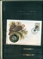 MAURITIUS PIGEON WWF 1 ENVELOPPE AVEC MEDAILLE COMMEMORATIVE A PARTIR DE 2 EUROS - Brieven En Documenten