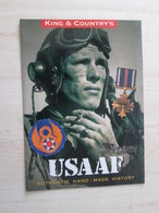 BACVERTCAGIBI / Figurines KING & COUNTRY / Brochure USAAF 4 Pages MAGNIFIQUEMENT ILLUSTREES - Militares