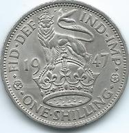 United Kingdom / Great Britain - 1947 - 1 Shilling - George V - KM863 - English Crest - 1902-1971 : Monete Post-Vittoriane