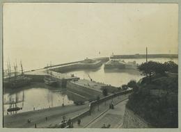 Tirage Argentique Circa 1910. Granville (Normandie). Le Port. Bateaux. - Plaatsen