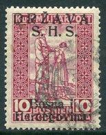 YUGOSLAVIA (SHS Bosnia) 1918 War Invalids 10+2 H. Claret With Roman Overprint  Used  Michel A20 I - Usados