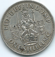 United Kingdom / Great Britain - 1937 - 1 Shilling - George V - KM854 - Scottish Crest - 1902-1971 : Monete Post-Vittoriane