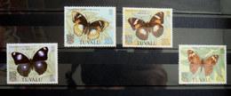 Timbres Neufs Papillons Tuvalu 1981 146 - 149  TIMBRE PAPILLON - Mariposas