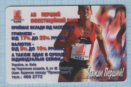 UKRAINE / KYIV / Phonecard Ukrtelecom / Advertising First Investment Bank. Athlete. Runner. 10/01 - Ucraina