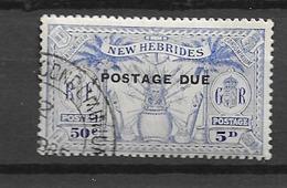 1925 USED New Hebrides Porto  Mi 4 - Used Stamps