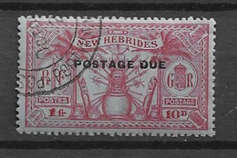 1925 USED New Hebrides Porto  Mi 5 - Used Stamps