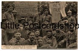 WW1 AK Lothringen Plakat Vive Italie Es Lebe Italien Es Lebe Frankreich Deutsche Soldaten Feldpost 1915 Vive La France - Oorlog 1914-18