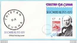 TRISTAN DA CUNHA - FDC - 265 Block 10 - Sir Rowland Hill Marke Auf Marke (31112) - Tristan Da Cunha