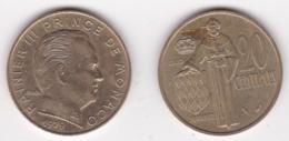 MONACO 20 CENTIMES 1979 RAINIER III - 1960-2001 Nouveaux Francs