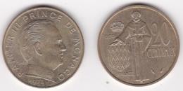 MONACO 20 CENTIMES 1978 RAINIER III - 1960-2001 Nouveaux Francs