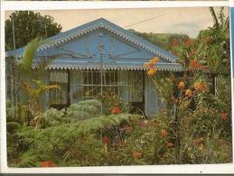 CPSM,Réunion , N°1042,Petite Case Créole ,dans Le Cirque De Salazie , Ed. Gelabert , 1989 - Reunion